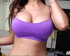 Large tits of arab bitch get stripped