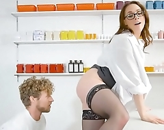 Pharmacy MILF helps patient with his limp dick problem