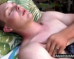 Cute little twink jacks off his never shaved prick