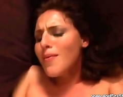 Crazy Gaping Anal Brunette Wife
