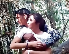 www.Adddictedpussy.com - Cute Girlfriend Got Her boobs massaged In the Jungle
