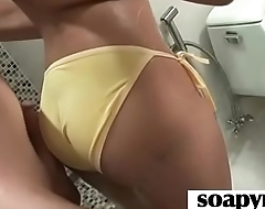 Beautiful masseuse pleasuring her client 29