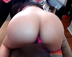 Shemale Beauty with a Gorgeous Curvy Body has her Butt Plugged