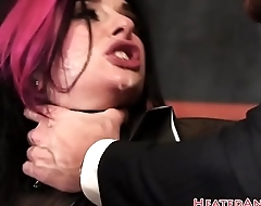 Sweet punk babe fucked anally in doggystyle