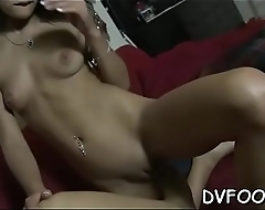 Playgirl grinds dick with hot feet