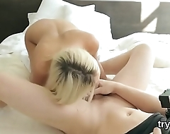Fervid nympho sucks penis in pov and gets spread kitty plowed