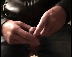 Jerking my horny cock in tight jeans and round ass
