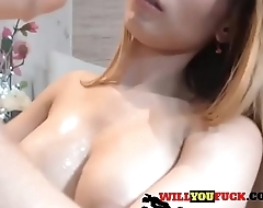 Blonde Webcam Girl Rides Dildo - SEE ME LIVE ON WILLYOUFUCK.COM