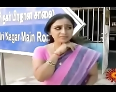 Tamil serial actress Rani navel show