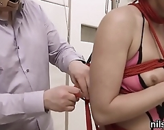 Slutty chick is brought in ass hole asylum for painful therapy