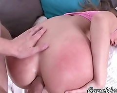 Bigass amateur anally fucked in gaping hole
