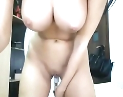 busty chick spreads asshole and toying