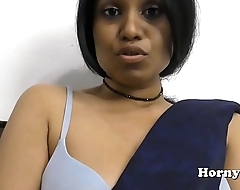 Indian MILF spreads her hairy pussy and fucks her big ass