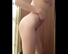 Hottest Asian strip tease with perfect tits