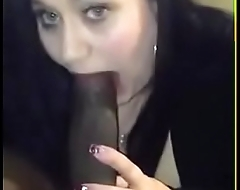 Paola bbw slut sucking and tity fucking a big black dick