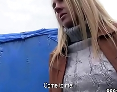 Public Pickup Girl Seduces Tourist For A Good Fuck And Dollars 08