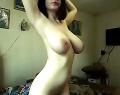 Great boobs amateur woman on webcam