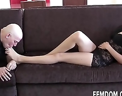 Lay back and let me give you a footjob