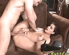 Teasing euro anally screwed by her lover