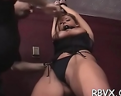 Gal manhandled by cocky stud
