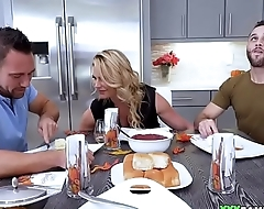 Stepmom Fucked During Thanksgiving Dinner