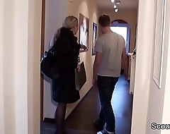 German MILF seduce Young Boy to Fuck when Home alone