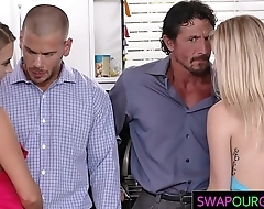 Swapping their horny daughters