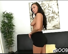 Chubby honey takes a hard fuck