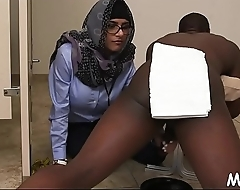 Breasty arab playgirl prepares for sex