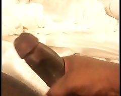 Stroking my dick hard